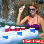 Water Party Fun Air Mattress Ice Bucket Cooler