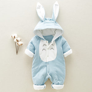 Cotton padded cotton baby romper