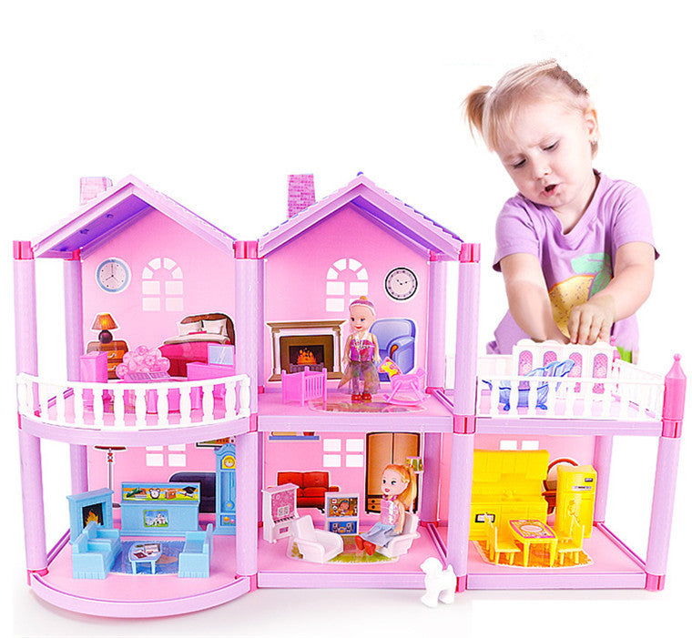House Doll House Villa DIY Assembled House