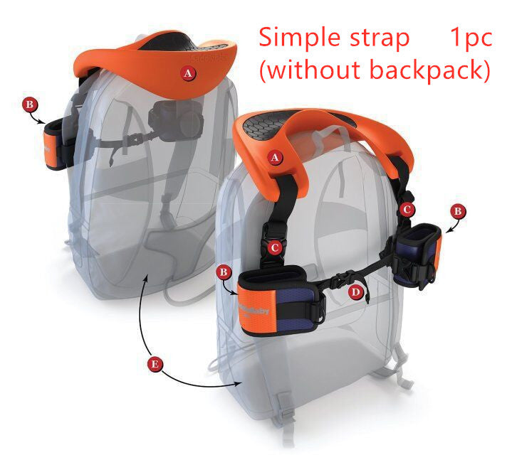 Hands Free Shoulder Carrier with Ankle Straps