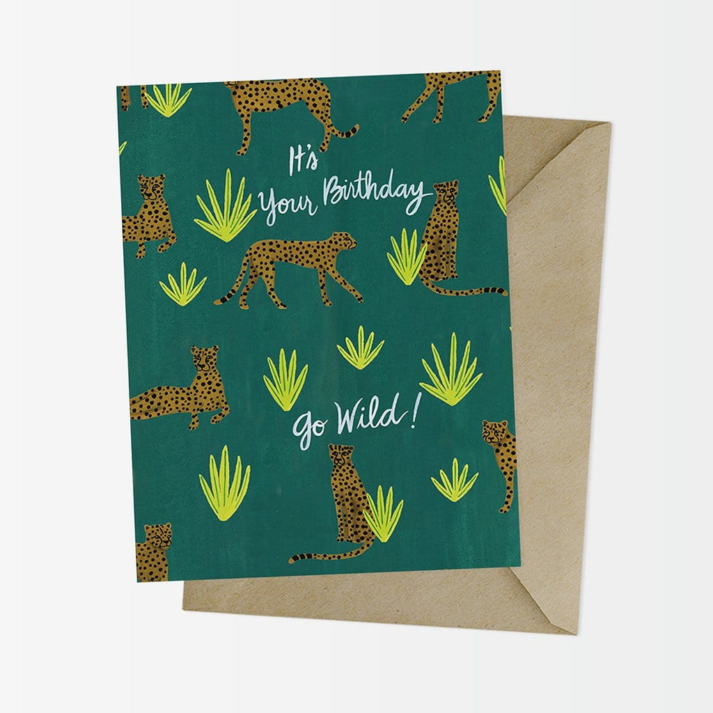 Go Wilder Cheetah Birthday Card