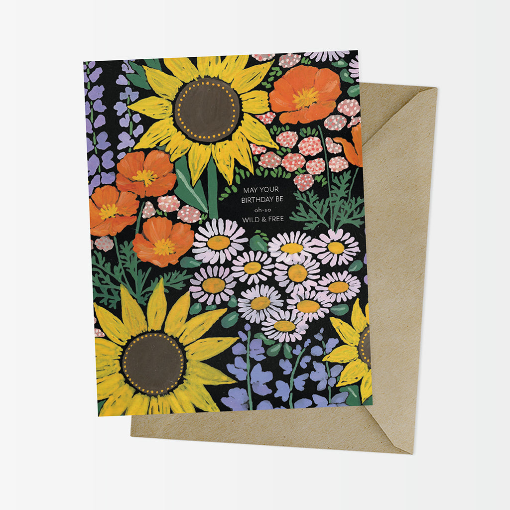 California Natives Floral Birthday Card
