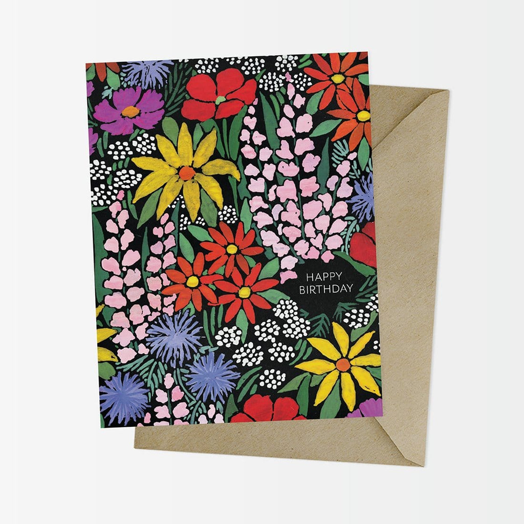 Flower Fields Floral Birthday Card