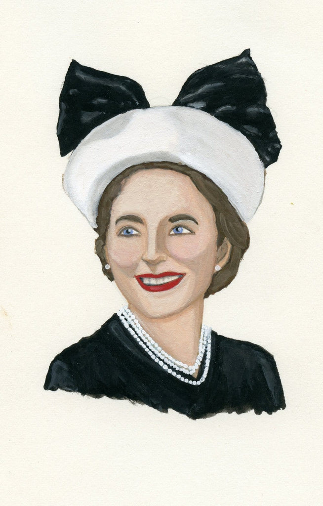 Dorothy Draper portrait in gouache by Liz Langley