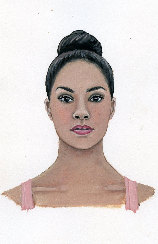 Misty Copeland portrait in gouache by Liz Langley