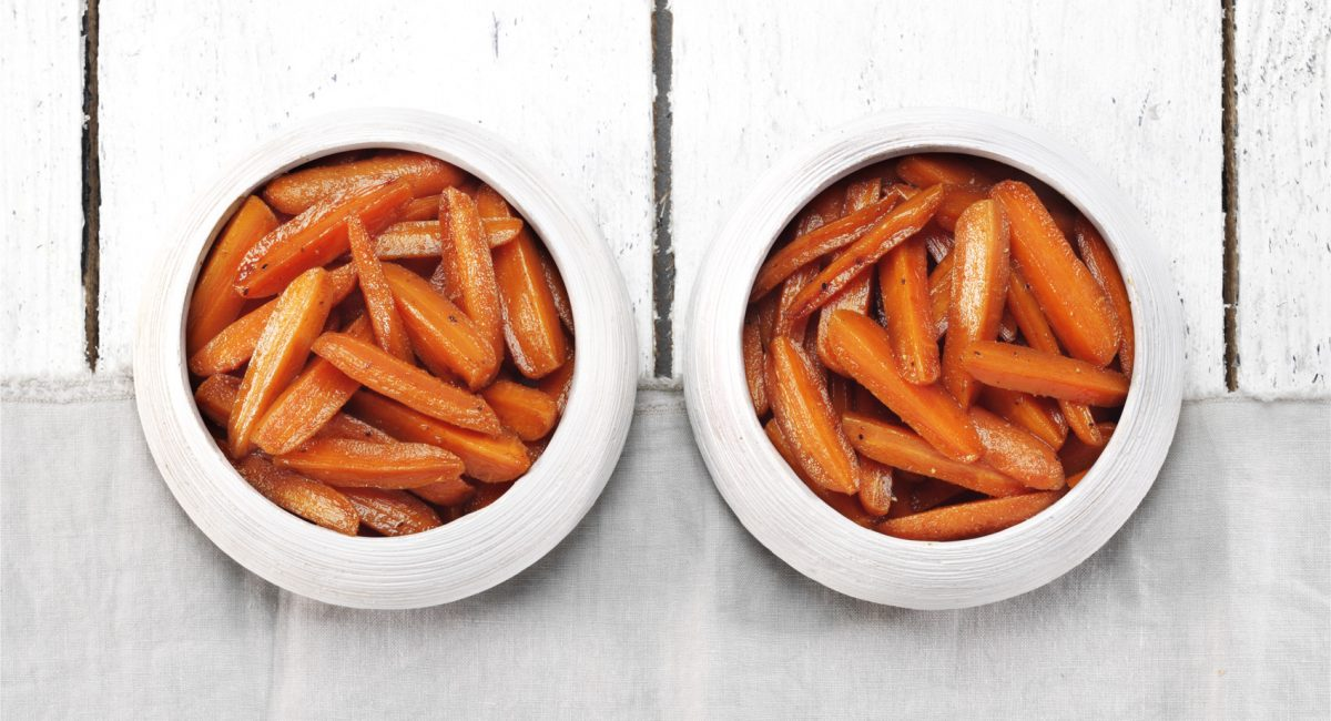 Baked spicy carrots