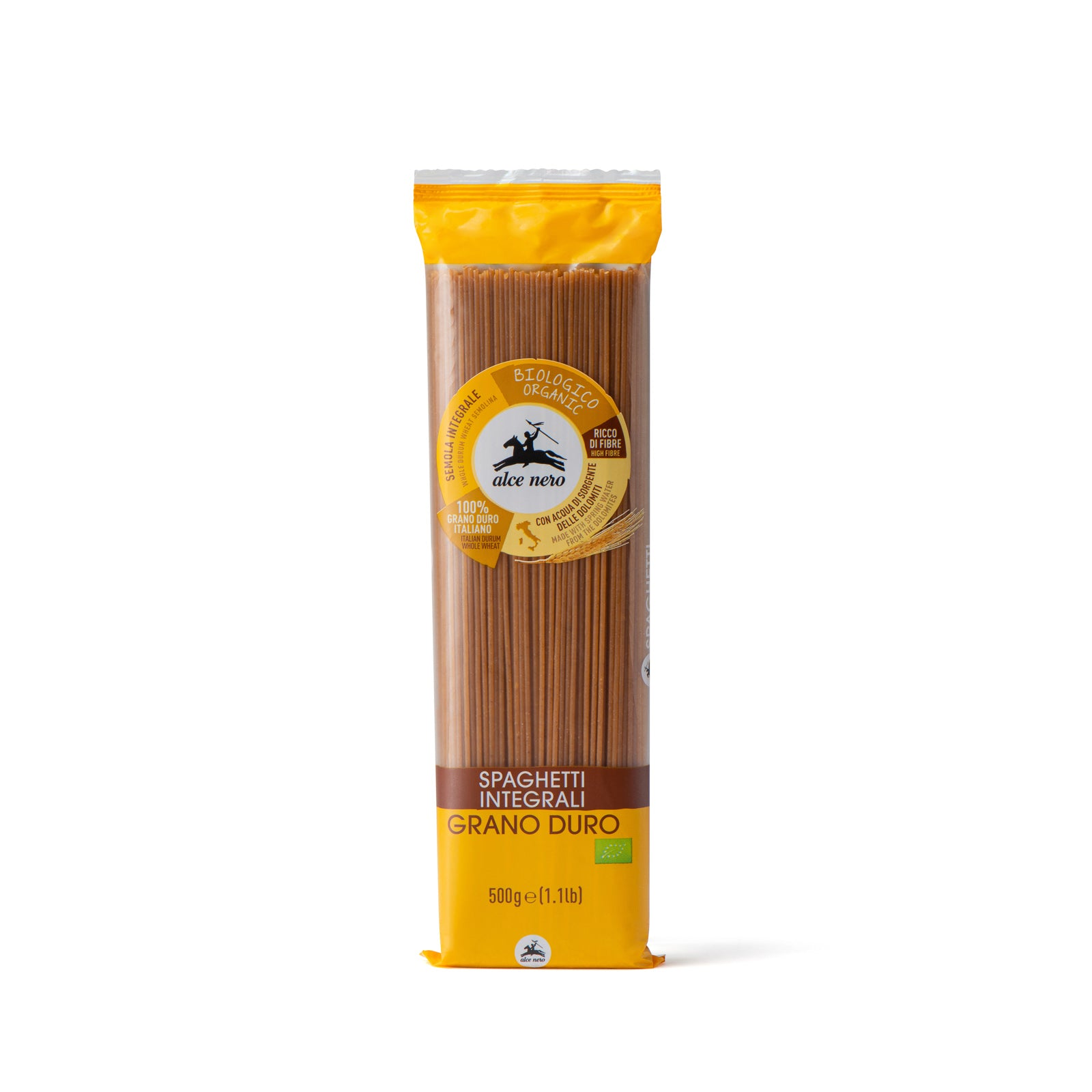 Organic wholemeal durum wheat spaghetti - PI610