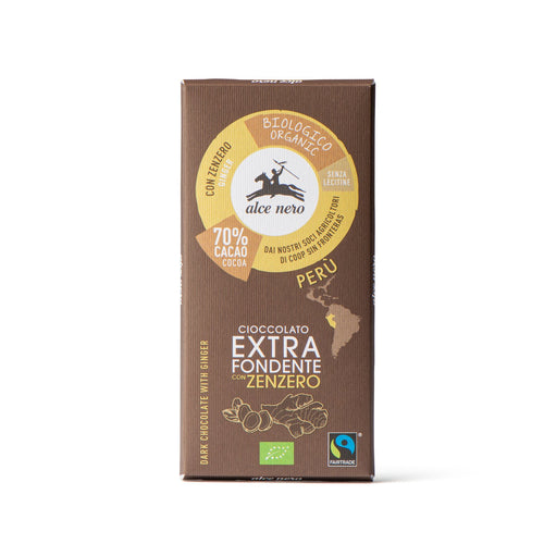 70% extra dark chocolate with organic ginger - CFZ050