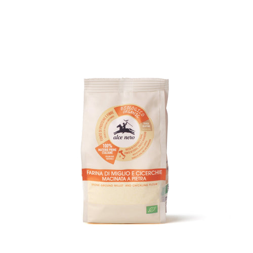 Organic stone-ground millet and grass pea flour-FACM400