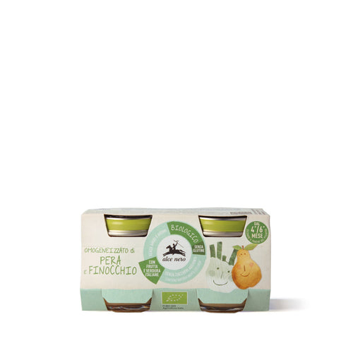 Organic pear and fennel baby food - 2 jars-BFPF160