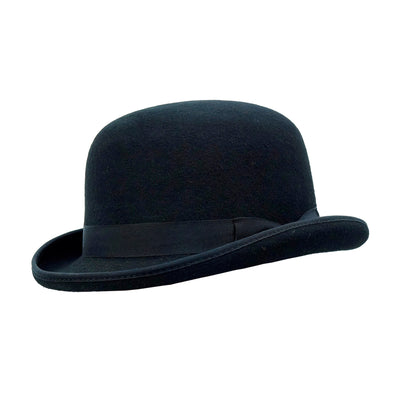 black formal bowler hat
