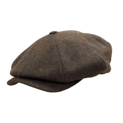 four panel cap brown