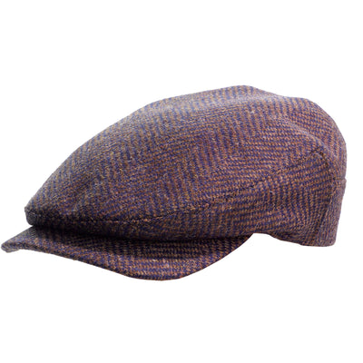 herringbone tweed Sicilian flat cap