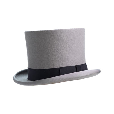 grey furfelt top hat