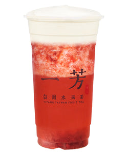 Strawberry Fruit Tea with Cheese Foam