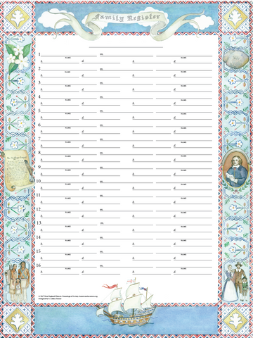 Mayflower Family Register