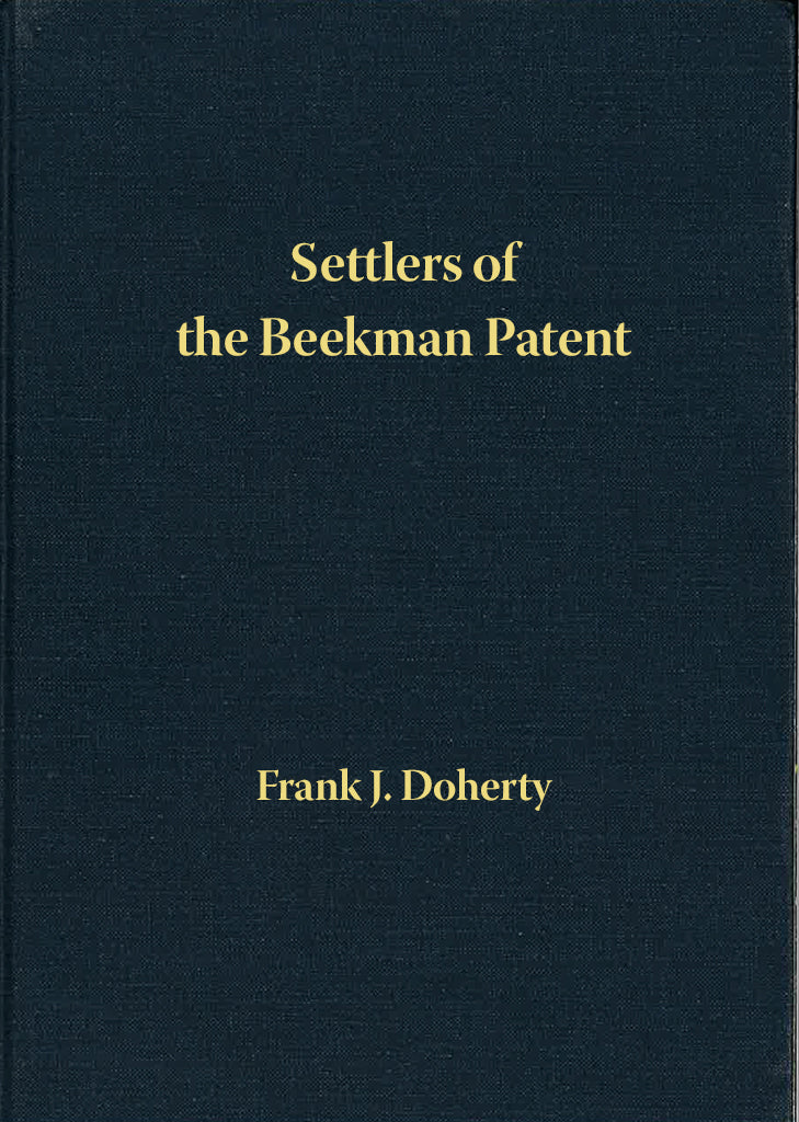 Settlers of the Beekman Patent, Dutchess County, New York; Volume 14: Taber to Tupper