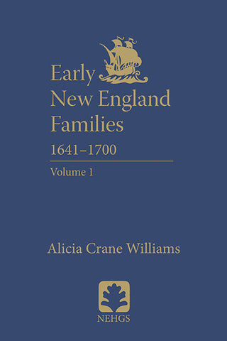 Early New England Families 1641-1700, Volume 1 (hardcover)