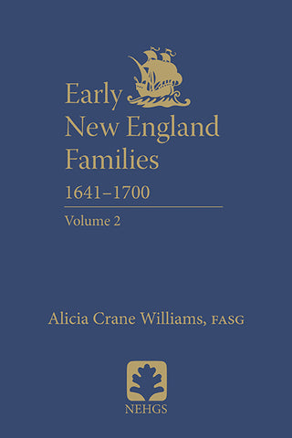 Early New England Families 1641–1700, Volume 2 (hardcover)