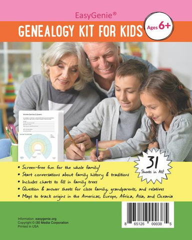 EasyGenie Genealogy Kit for Kids (Ages 6+)