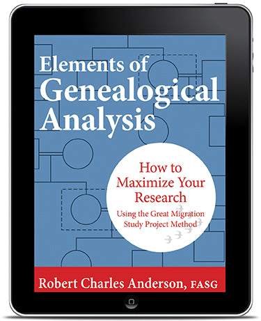 E-book Edition of Elements of Genealogical Analysis