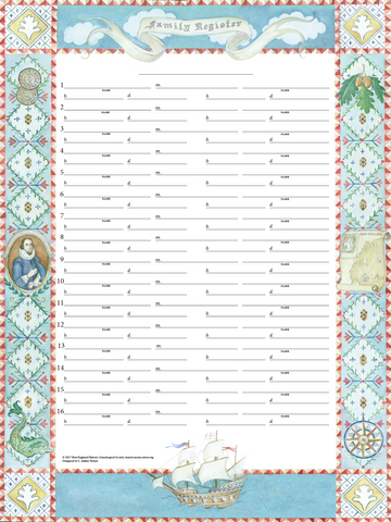 Great Migration Family Register Chart