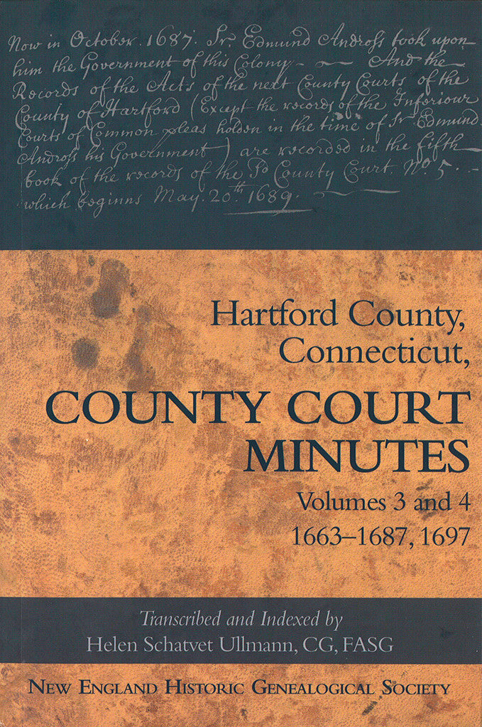 Hartford County Court Minutes Volumes 3 and 4