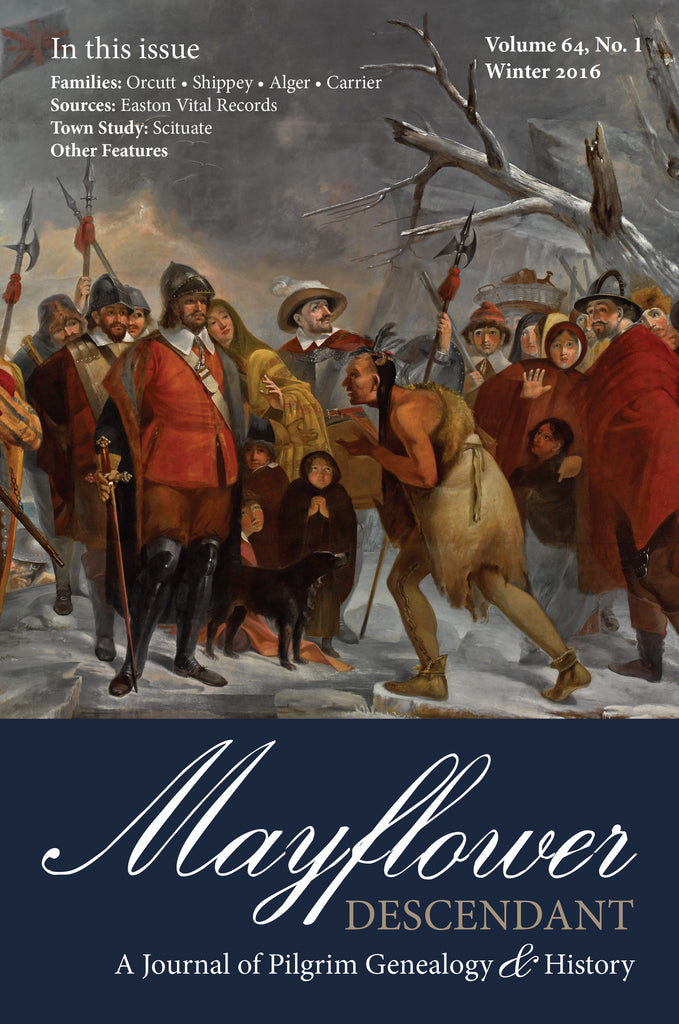 Mayflower Descendant, Volume 64, No. 1: Winter 2016