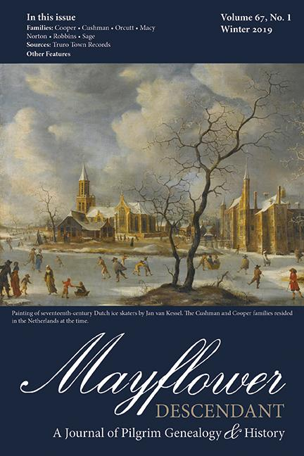 Mayflower Descendant, Volume 67, No. 1: Winter 2019