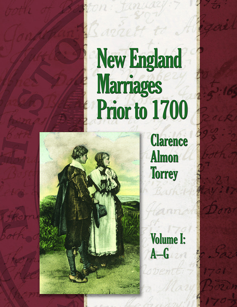 New England Marriages Prior to 1700, 3 Volume hardcover set