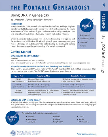 Portable Genealogist: Using DNA in Genealogy