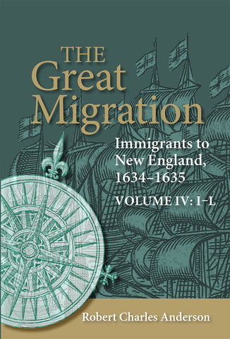 The Great Migration: Immigrants to New England, 1634-1635, Volume IV: I-L (paperback)