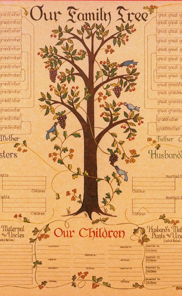 7 generation family tree chart pennsylvania dutch design