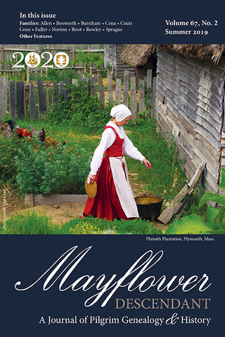 Mayflower Descendant, Volume 67, No. 2: Summer 2019