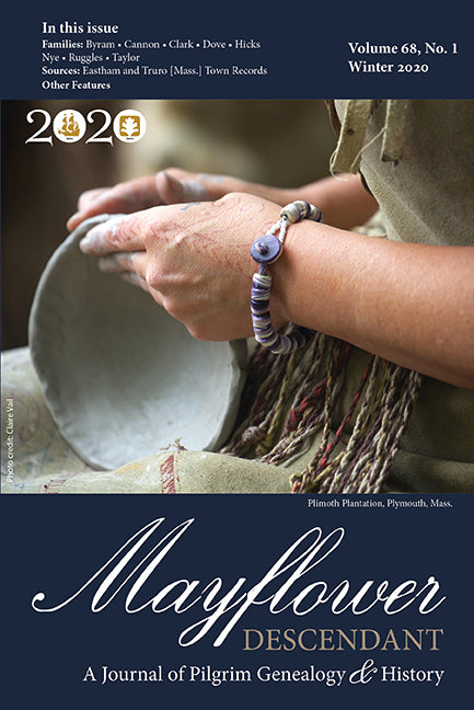 Mayflower Descendant, Volume 68, No. 1: Winter 2020