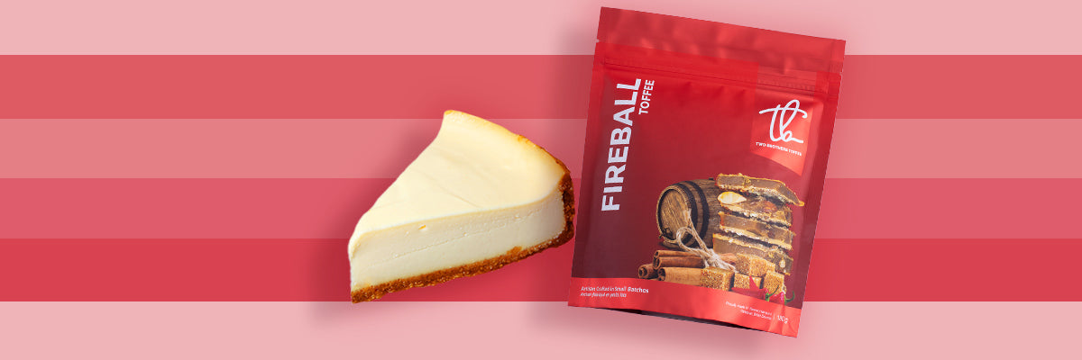 Cheesecake with toffee