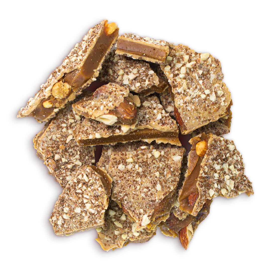 Two Brothers Toffee:  Fireball Toffee top view.