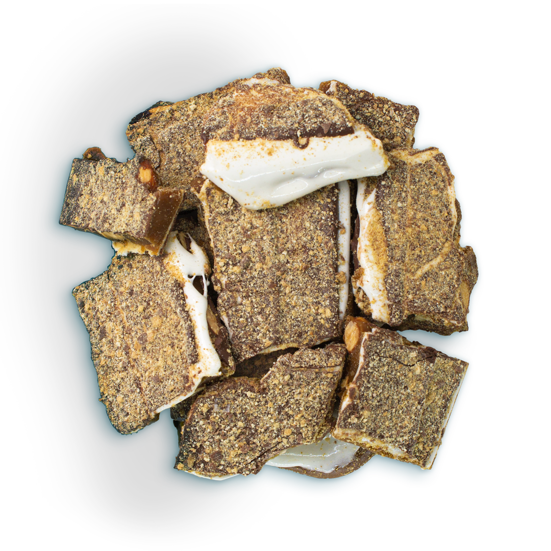Two Brothers Toffee:  Smore Toffee top view.