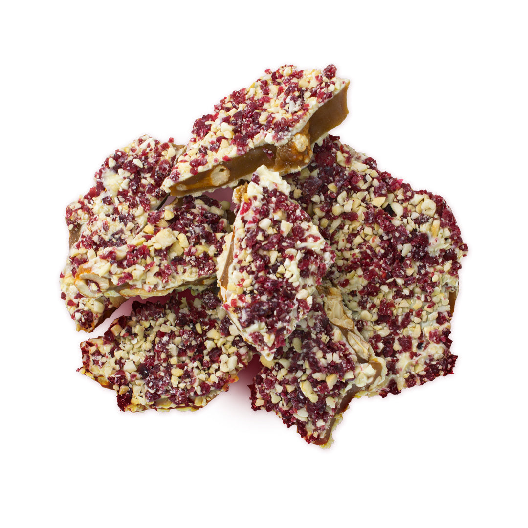 Two Brothers Toffee:  Whitecran Toffee top view.