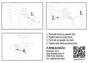 Manual for Armanov Powder Thrower Knob for Dillon