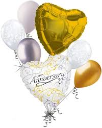 Happy Anniversary Balloons Package
