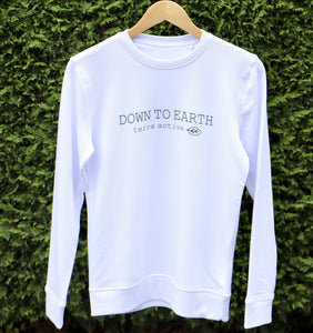 Down to Earth Eco Friendly Organic Cotton Sweater White - Terra Active