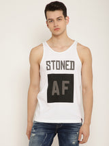 Punk STONED-AF White T-Shirt
