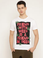 Punk FRIEND-WITH-WEED White T-Shirt