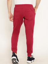 Punk Plain Red Jogger