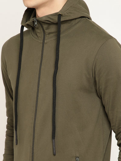 Punk PSY-ZIPPER Olive Sweatshirt