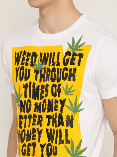 Punk WEED-WILL-GET White T-Shirt