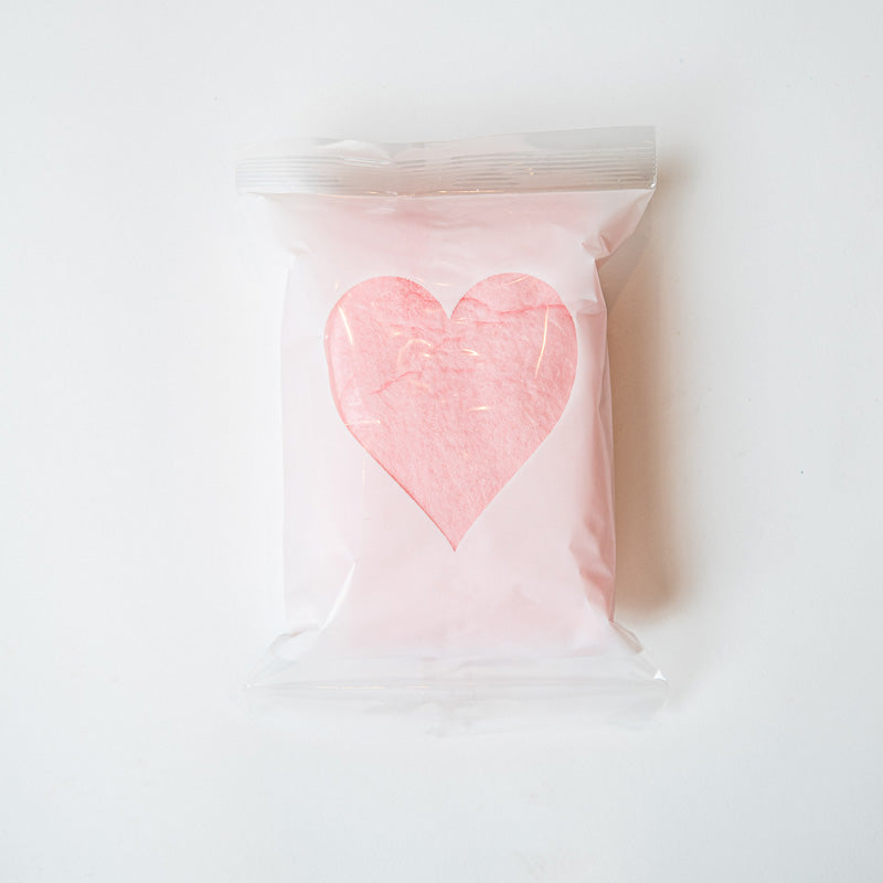 Heart and Ribbon Cotton Candy I 1 ounce bags I