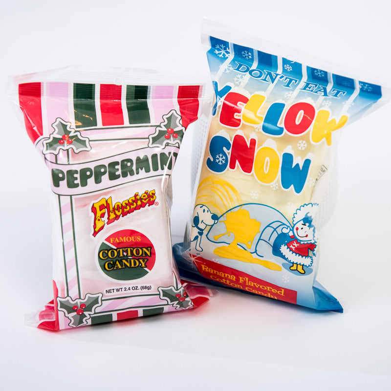 Cotton Candy | Yellow Snow/Peppermint | 2.4 ounce Bag