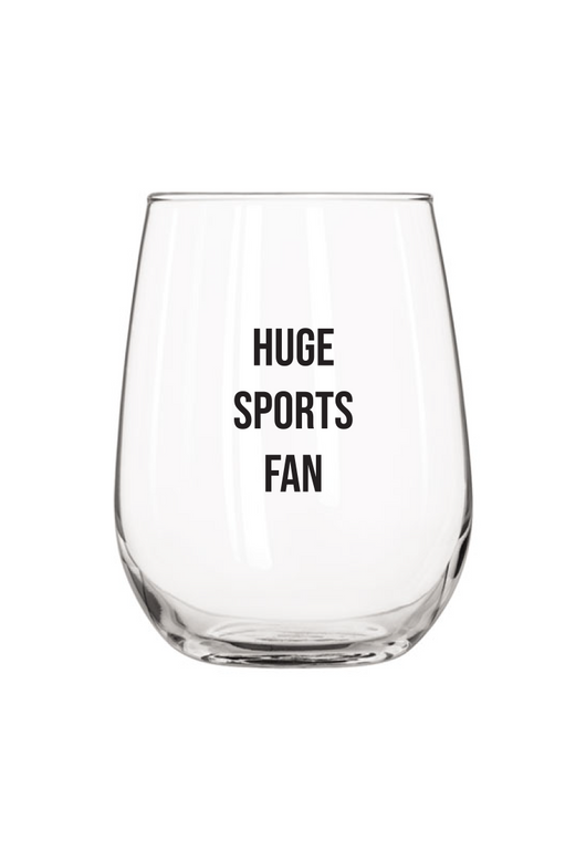 Huge Sports Fan Wine Glass